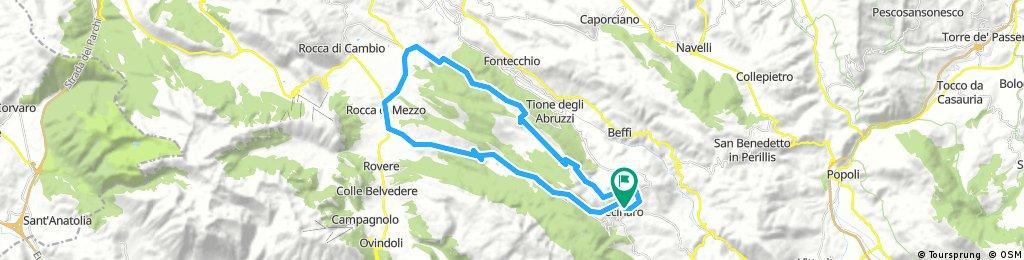 Long ride through Tione degli Abruzzi