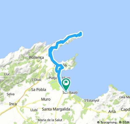 Can Picafort - Formentor - Retour