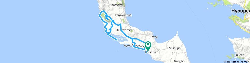 Tour 2 - Ágios Geórgios Argirádon_Ágios Matthéos_Prasoúdi (463 m)_Lagune Korissión_Burg Gardíki_Vraganiótika_Argirades