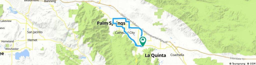 Lengthy ride through Palm Desert