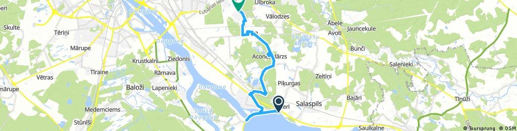 ride through Dreiliņi