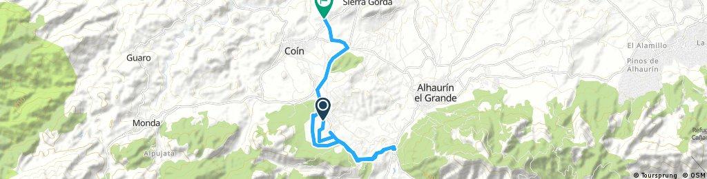 bike tour through Coín