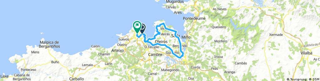 Coruña-Mera-Sada-Betanzos-N VI-Coruña