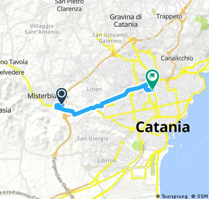 ride through Catania