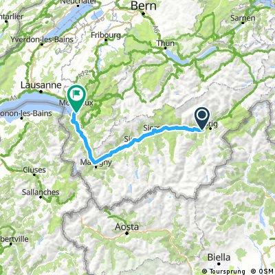 2. Andermatt - Trier ( Brig - Villeneuve ) über den Genfer See
