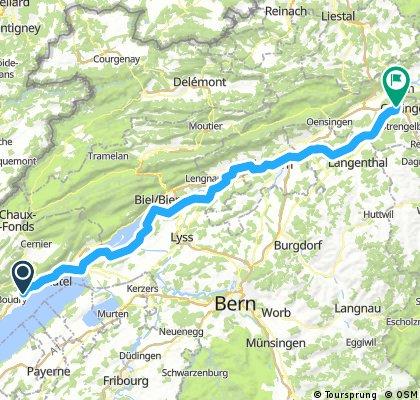 4. Andermatt - Trier ( Colombier - Aarburg ) über den Genfer See