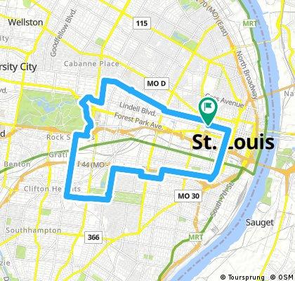 bike tour through St. Louis