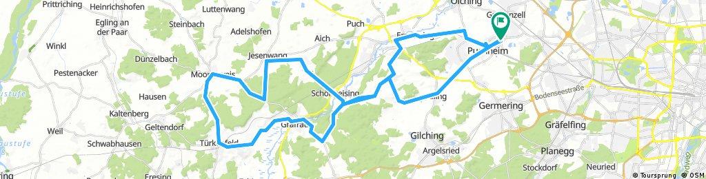 Rennradrunde 76km