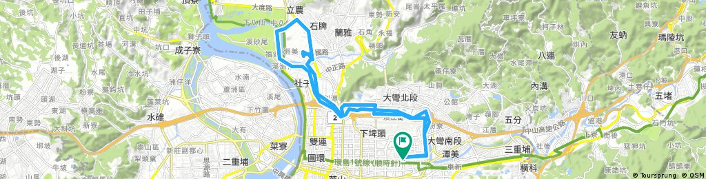 Lengthy bike tour through Dingdongshi
