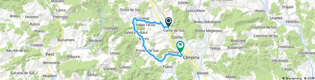 Breaza - Valea Tarsei - Adunati - Ocina de Jos - Izvoru - Provita de Sus - Provita de Jos - Poiana Campina