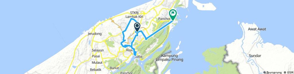 Long bike tour through Bandar Seri Begawan