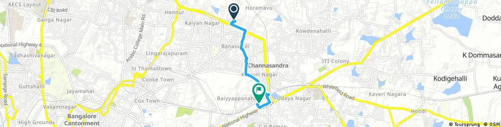 Quick bike tour through Benniganahalli