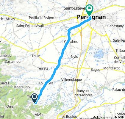 Spanje naar Perpignan
