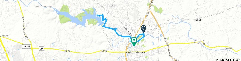 ride through Lake Georgetown