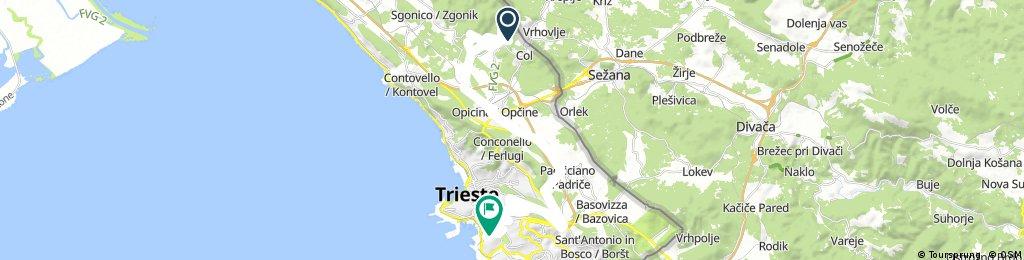 Lengthy bike tour through Triest