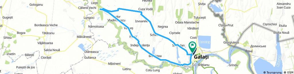 Galati - SL.Conachi - Tudor Vladimirescu - Hanu Conachi - Piscu - Independenta - Sendreni - Galati
