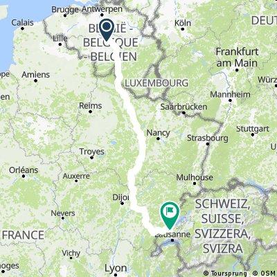 Belgique - Suisse (MàV, V54, V53, Jura)