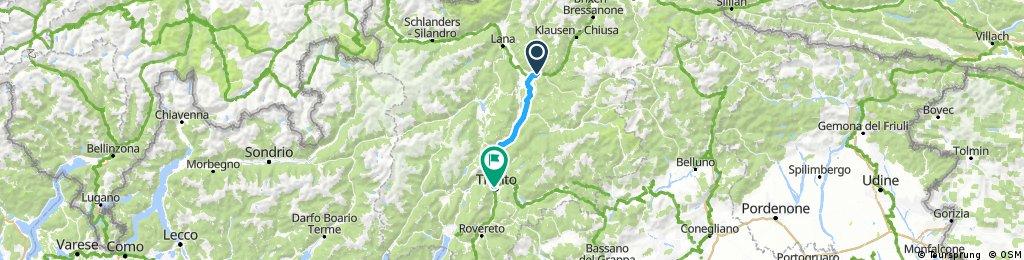 Bolzano to Trento