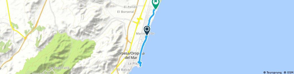 Von Torre la Sal nach Orpesa und retour