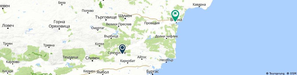 Лозарево - Люляково - Провадия - Белослав - Варна (заобикаляне на Дългопол)