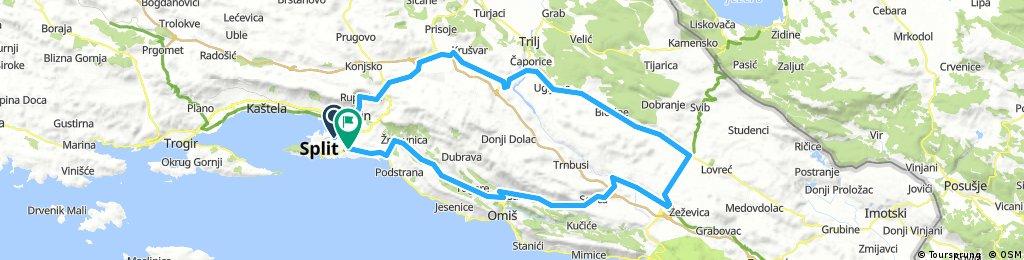 Split - Šestanovac - Split