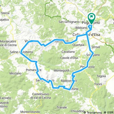 Giro di Volterra 121km x 1880m