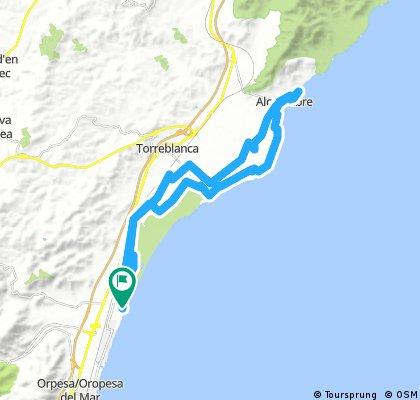 Von Torre la Sal über Torrenostra nach Alcossebre und retour