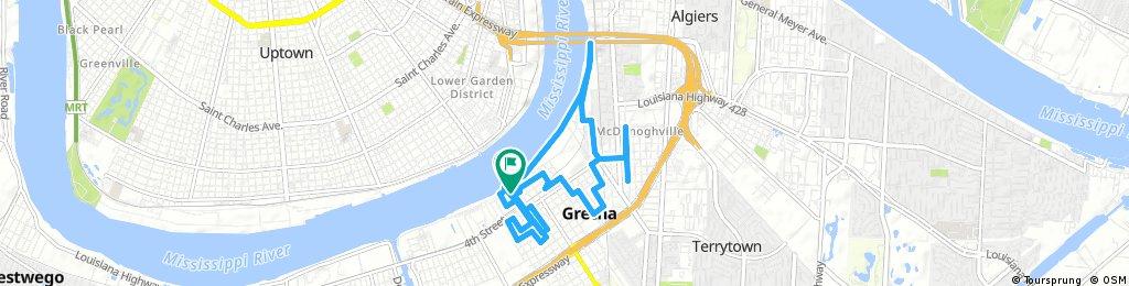 bike tour through Gretna