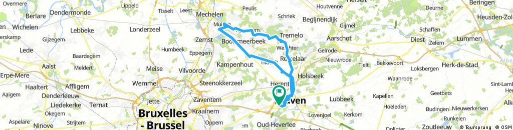 Leuven-Planckendael-Leuven