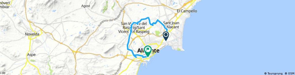 ride through Alacant 11/11/2017