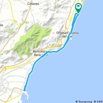 Von Torre la Sal über Benicassim nach El Grao und retour