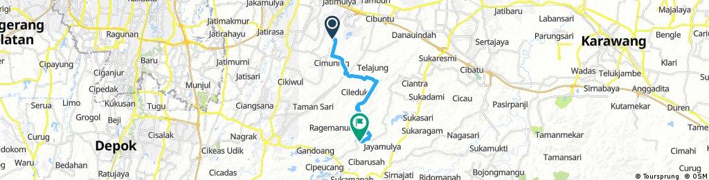 bike tour through Jatisari