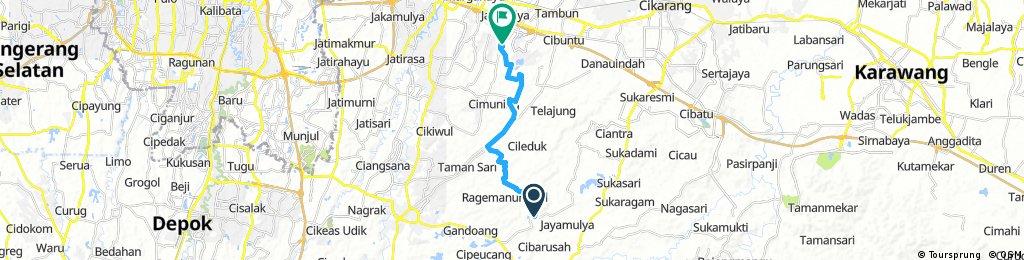 bike tour through Lambangsari