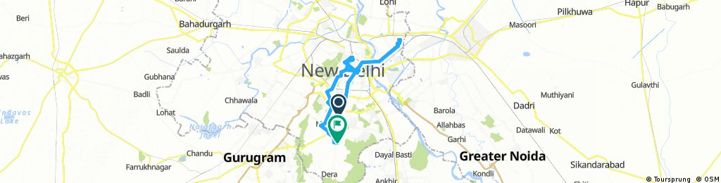 Long bike tour through New Delhi