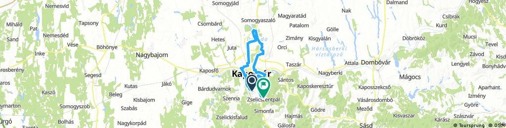 Lengthy ride through Zselicszentpál