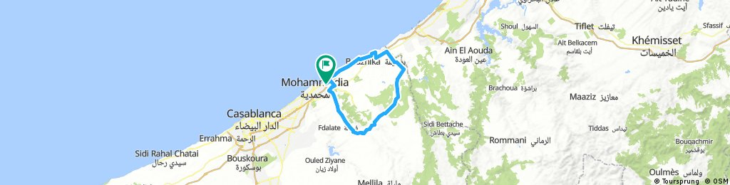 Long bike tour through Mohammédia المحمدية