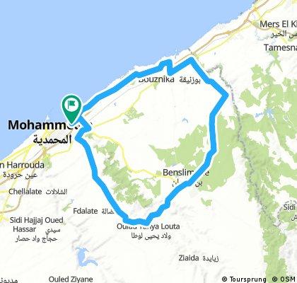 Long bike tour through Mohammédia المحمدية