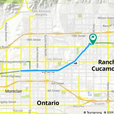 bike tour through Rancho Cucamonga PET