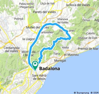 Ruta a Vallromanes