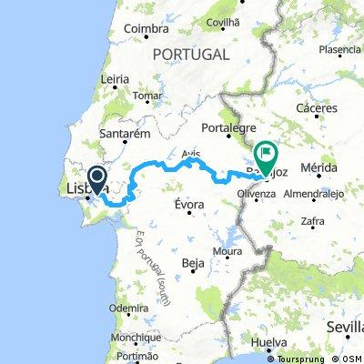Ecovia 11 (Lisboa - Badajoz) | Bikemap - Your bike routes on blank map of washington, blank map of rome, blank map of sydney, blank map of caribbean sea, blank map of cape town, blank map of oahu, blank map of mexico city, blank map of buenos aires, blank map of san francisco, blank map of cozumel, blank map of singapore, blank map of athens, blank map of english channel, blank map of madrid, blank map of la paz, blank map of new england, blank map of northern italy, blank map of macau, blank map of portugal,