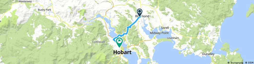 Day 15 -  Richmond to Hobart