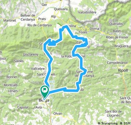 Berga-Coll de Pal 2.070 mts.-La Molina-Coll de la Creueta-La Pobla de Lillet-Borreda-Berga