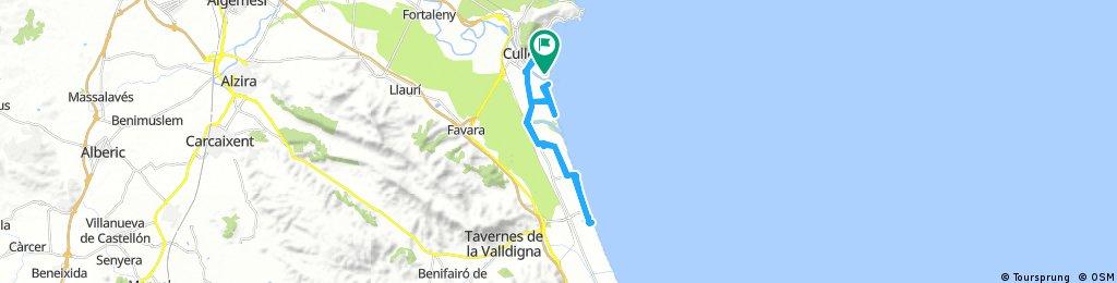 Von Cullera nach Tavernes und zurück