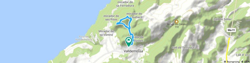 Mallorca a peu: Valldemossa-pla des Pouet-mirador de ses Puntes-coll de Son Gallard-pla des Pouet-Valldemossa