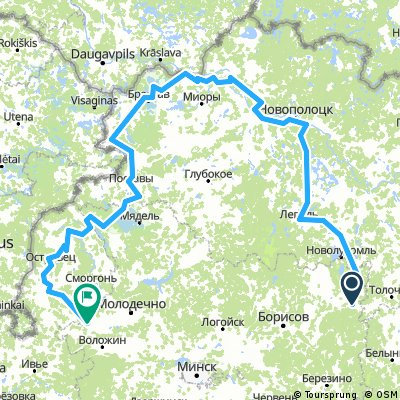 Tour de Belarus. Вандроўка па Беларусі. 25.07-1.08.2017