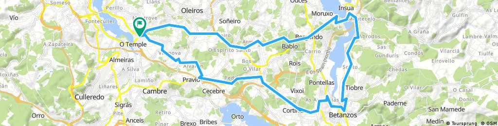 Seixal - Guísamo - Betanzos - Insua - Pedrido - San Isidro - Santa Marta