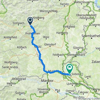 2018-Teil 1. und 2. Tag von  Bruck an der Mur nach Gederovic