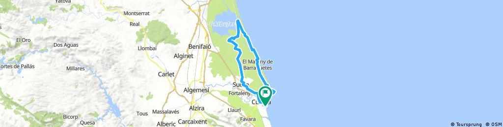 Von Cullera nach El Palmer am Albufera See