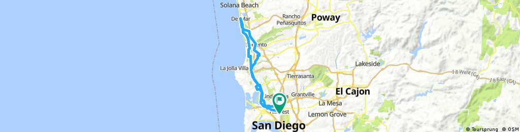 Lengthy ride through San Diego