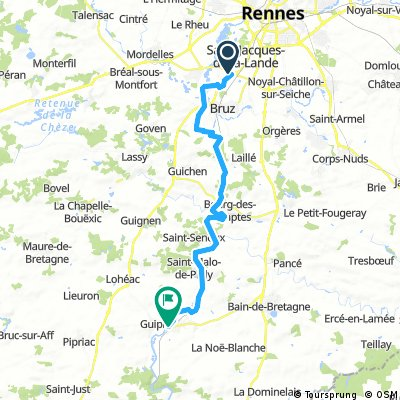 Rennes airport to Messac